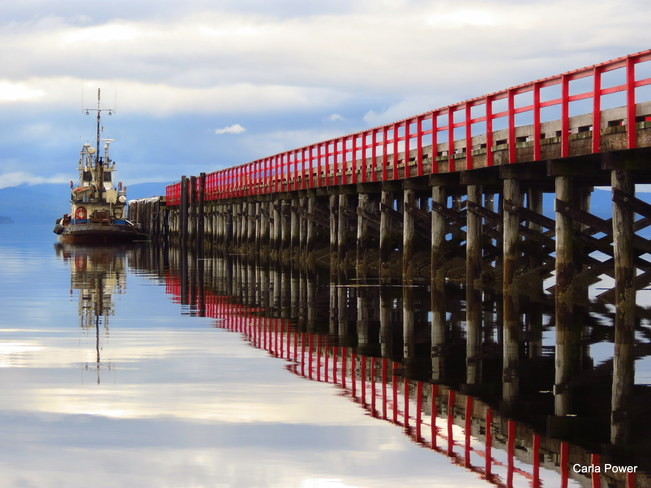 Evening reflections at the Pier Port Clements, British Columbia Canada