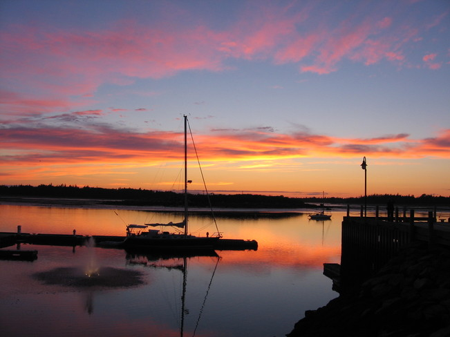 Sunset over the Harbour Yarmouth, Nova Scotia Canada