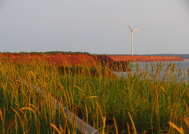 capes and windmill at sunset Norway, Prince Edward Island Canada