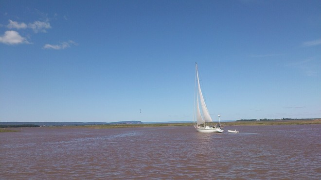 Sailing the High Tide at Wolfville Harbour-What a day! Wolfville, Nova Scotia Canada