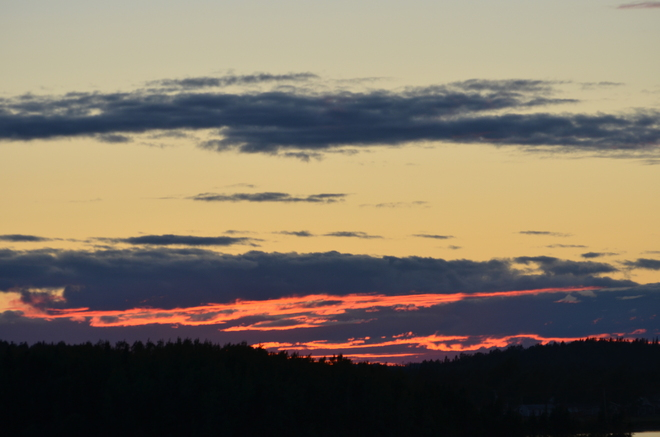 Beautiful sunset on our patio Lewisporte, Newfoundland and Labrador Canada