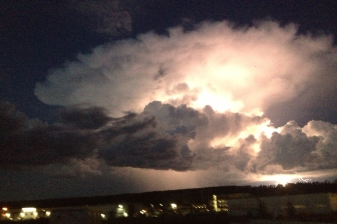 In-cloud Lightning Fort McMurray, Alberta Canada
