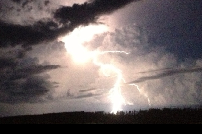 Awesome light show. Fort McMurray, Alberta Canada