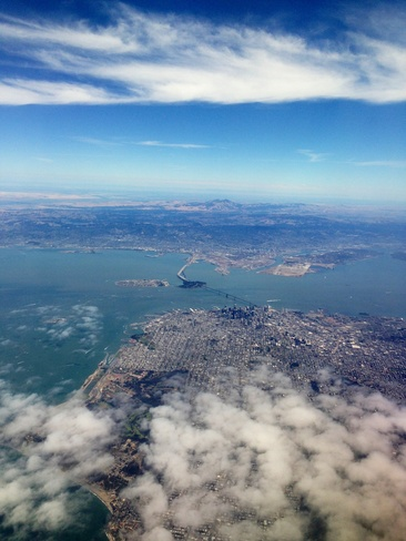 From above San Francisco, California United States
