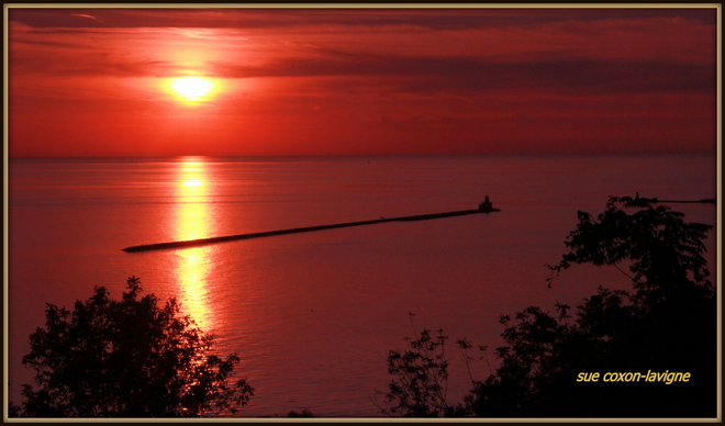 sunset Goderich, Ontario Canada