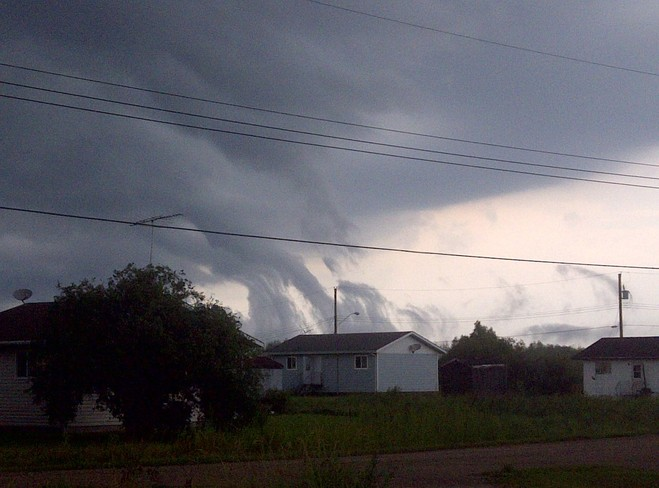 Possible Twister in the Sagkeeng First Nation Fort Alexander 3, Manitoba Canada