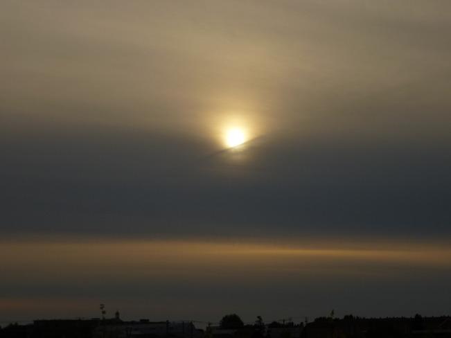 Coucher de soleil timide Rimouski, Quebec Canada