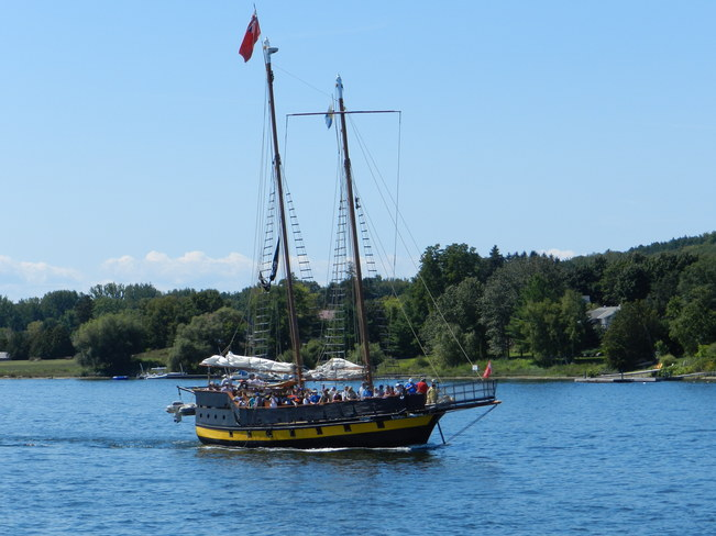 Tall Ship Sailing the high seas of Penetang Penetanguishene, Ontario Canada