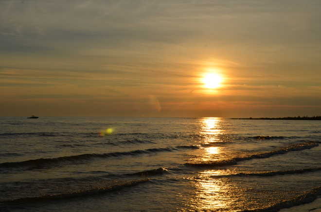 Sunset Sauble Beach North, Ontario Canada