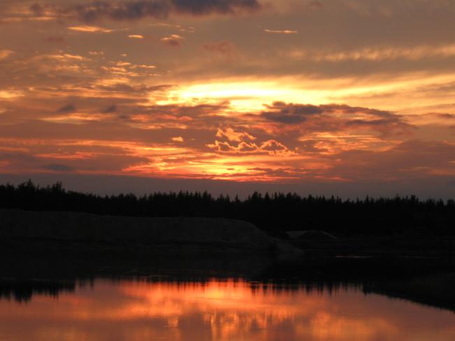Hikers Sunset Opal, Alberta Canada