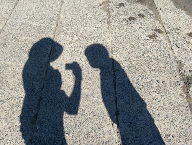 Shadow Pic @ Boat Launch on Spanish River Massey, Ontario Canada