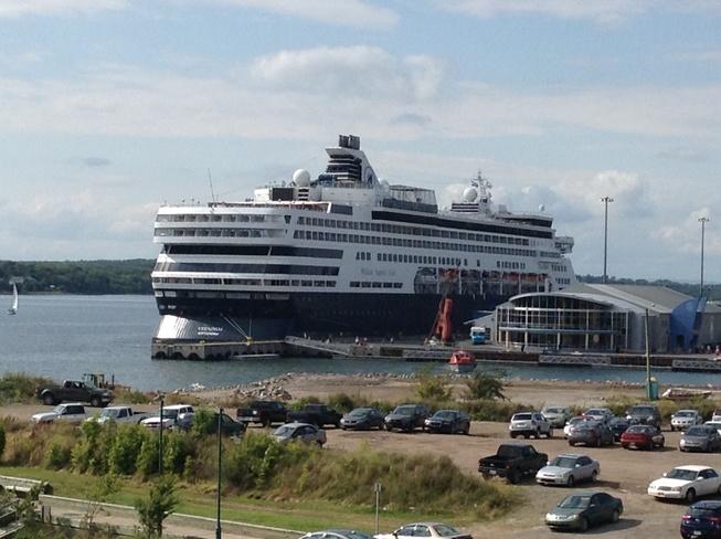 Cruise ship on a warm day Sydney, Nova Scotia Canada