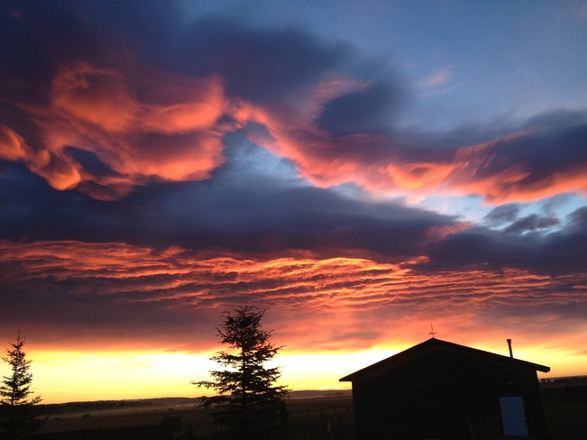 Amazing Morning Clouds Sundre, Alberta Canada
