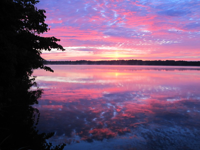 Spectacular Sunrise over Hay Bay Greater Napanee, Ontario Canada