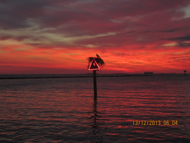 Sunrise on the Bay Chesapeake, Virginia United States