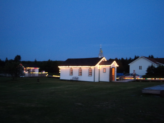 Victoria Heritage Church in the Sunlight & in the Moonlight Carbonear, Newfoundland and Labrador Canada
