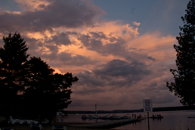 Beautiful sunset over Muskoka Huntsville, Ontario Canada