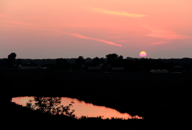 Pretty Sunset Waterford, Ontario Canada