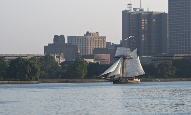 Tall ship Arriving for the Weekend Windsor, Ontario Canada