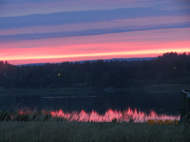 Sunset over the Bird Sanctuary Hope Town, Quebec Canada