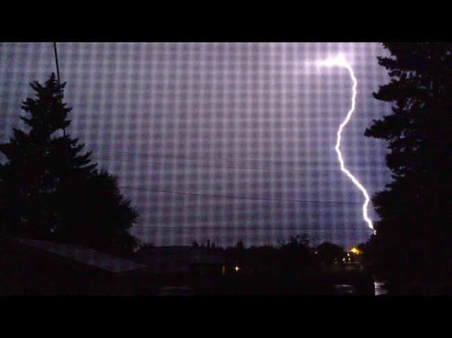 Lightning in WestPark Red Deer, Alberta Canada