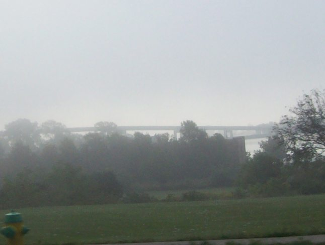 Disapating Fog over the Bay of quinte Belleville, Ontario Canada