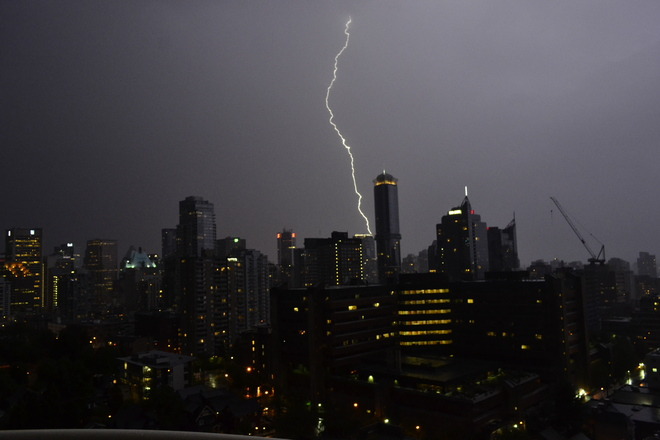 Lightning Greater Vancouver, British Columbia Canada