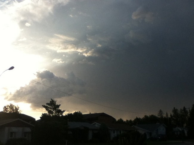 Storms Comeing Winnipeg, Manitoba Canada