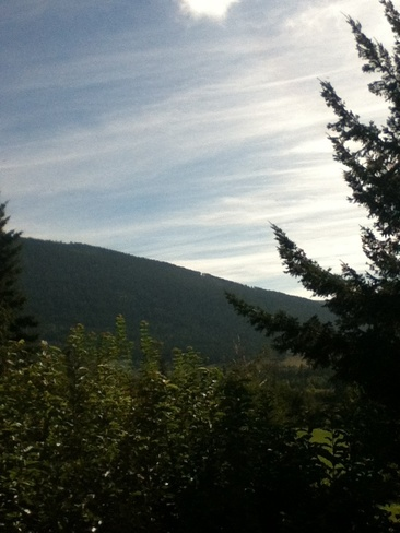 wispy clouds on a sunny morning Salmon Arm, British Columbia Canada