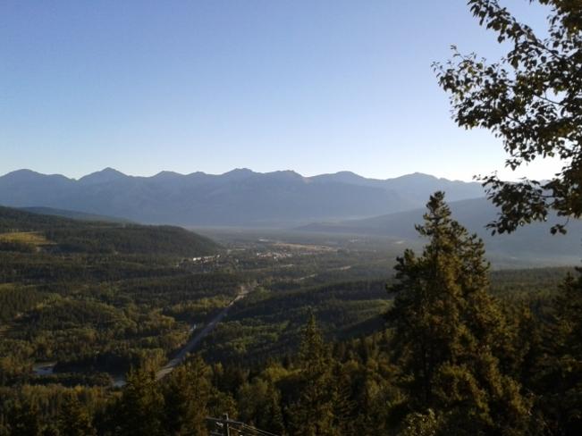 Jasper as seen from Jasper Tramway Jasper, Alberta Canada