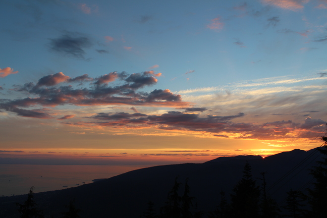 Sunset from Grouse Mountain Vancouver, British Columbia Canada