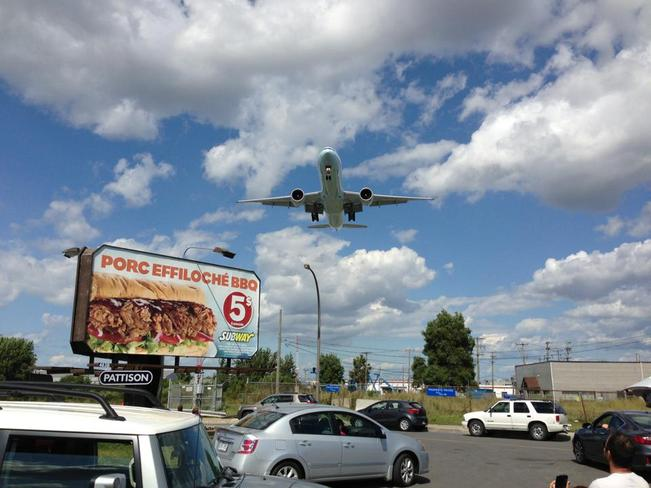 Airplane Watching Dorval, Quebec Canada