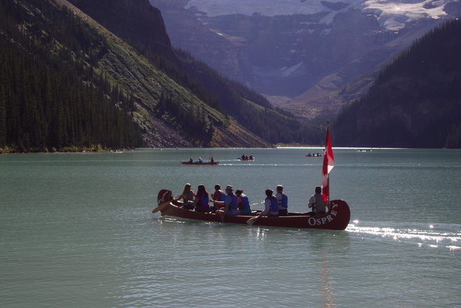 Out in the boats we go Lake Louise, Alberta Canada