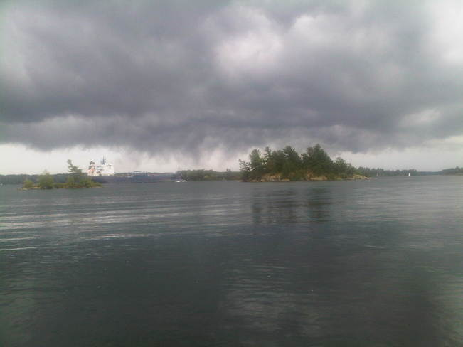 Ominous Clouds, 1000 Islands Brockville, Ontario Canada