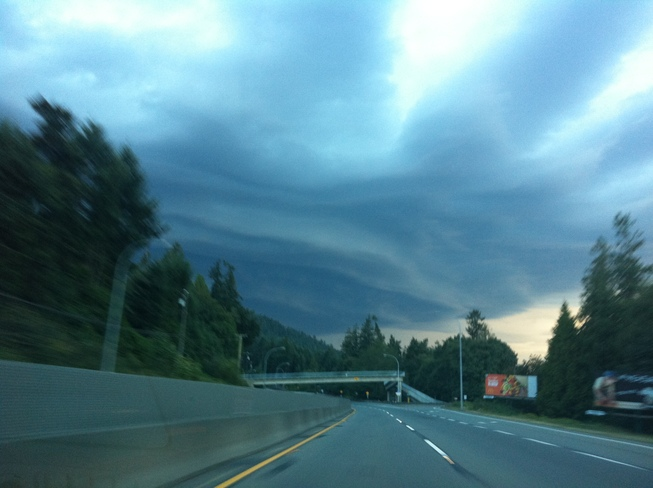 Wicked Storm on Hwy 19 towards Parksville Errington, British Columbia Canada