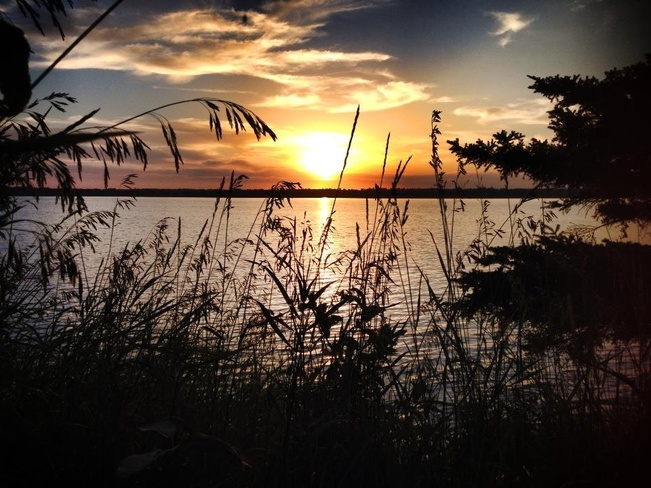 Lake Audy sunset Wasagaming, Manitoba Canada
