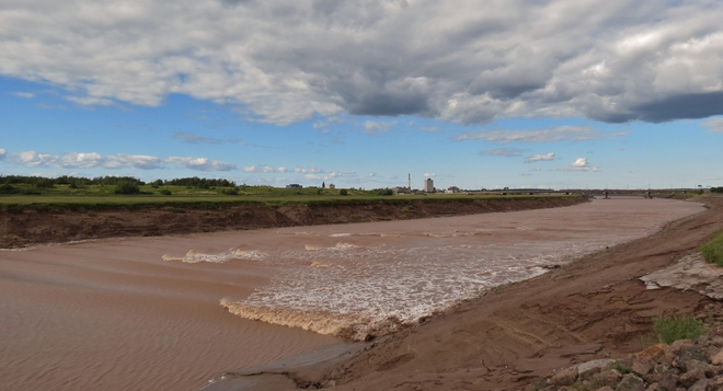 The Tide Coming In Riverview, New Brunswick Canada