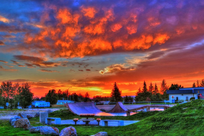 Beautiful end of day Swan Hills, Alberta Canada
