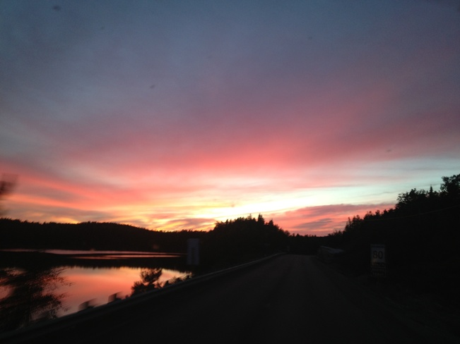 sunset Gogama, Ontario Canada