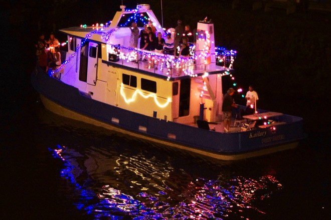 Port Dover Lighted Boat Parade Port Dover, Ontario Canada