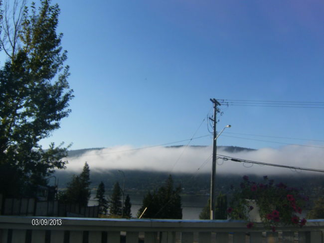 Foggy morning Williams Lake, British Columbia Canada