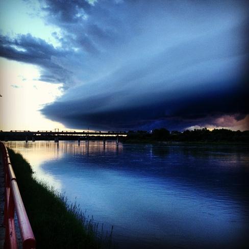 Storm approaching Prince Albert, Saskatchewan Canada