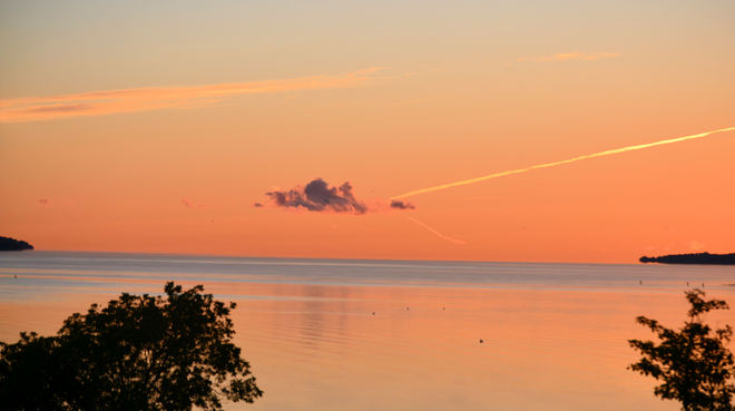 cool Sept sunrise Barrie, Ontario Canada