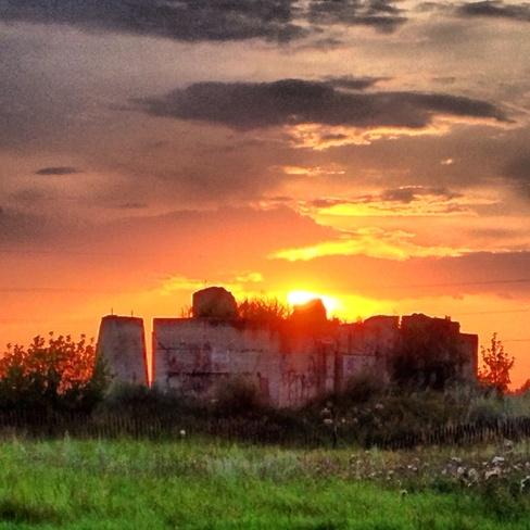 Alberta Sunset over old #3 Coal Mine Lethbridge, Alberta Canada