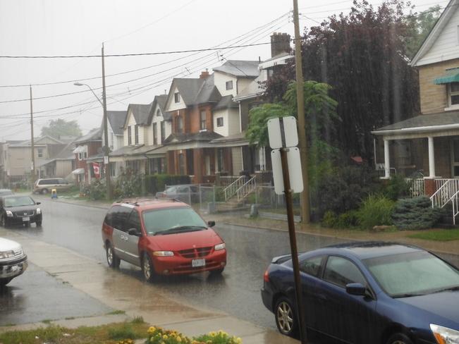 Big downpour Hamilton, Ontario Canada