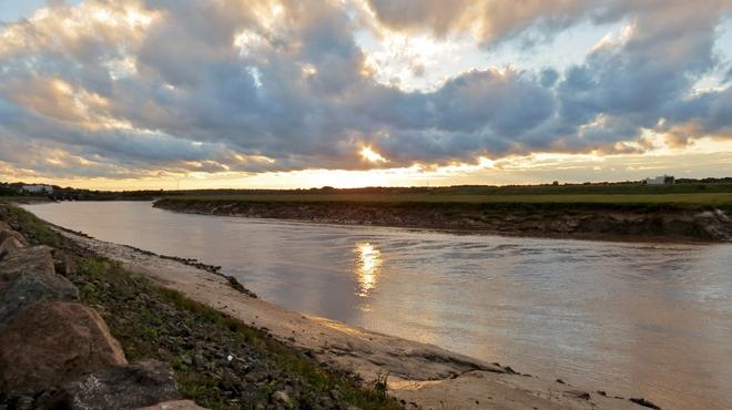 The Sun Peeking Through Riverview, New Brunswick Canada