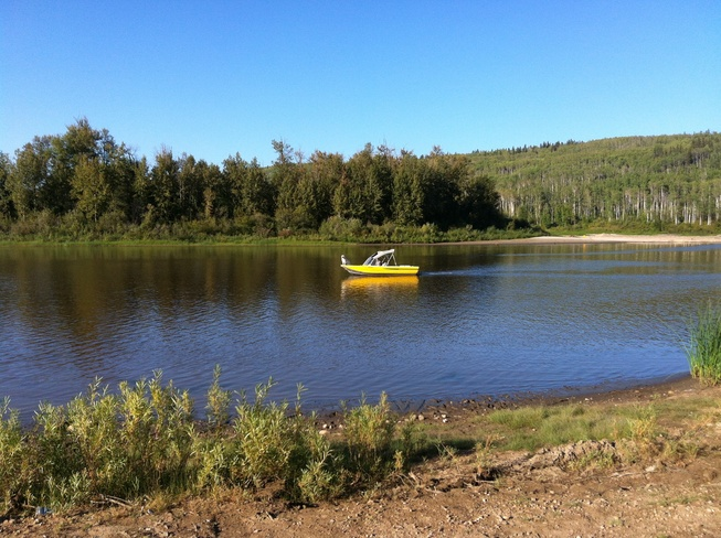 boating on the Snye Fort McMurray, Alberta Canada