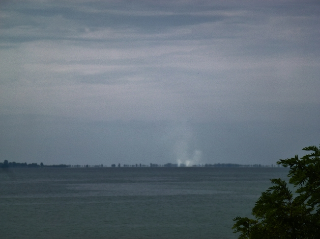 Possible Water Spouts on Lake Erie Port Ryerse, Ontario Canada