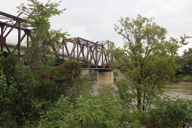 Gray Over the Bridge Winnipeg, Manitoba Canada