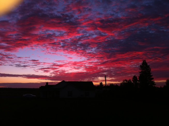 Red sky in morning Moncton, New Brunswick Canada